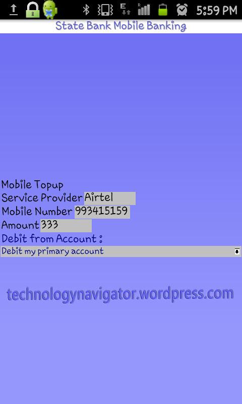 mobile banking sbi login